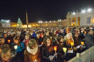 Messe mit dem Papst auf dem Petersplatz